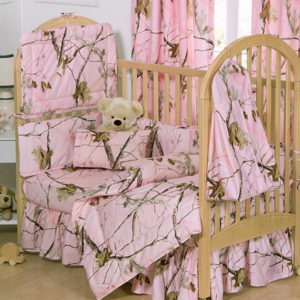 Camo Baby Bedding – Girls