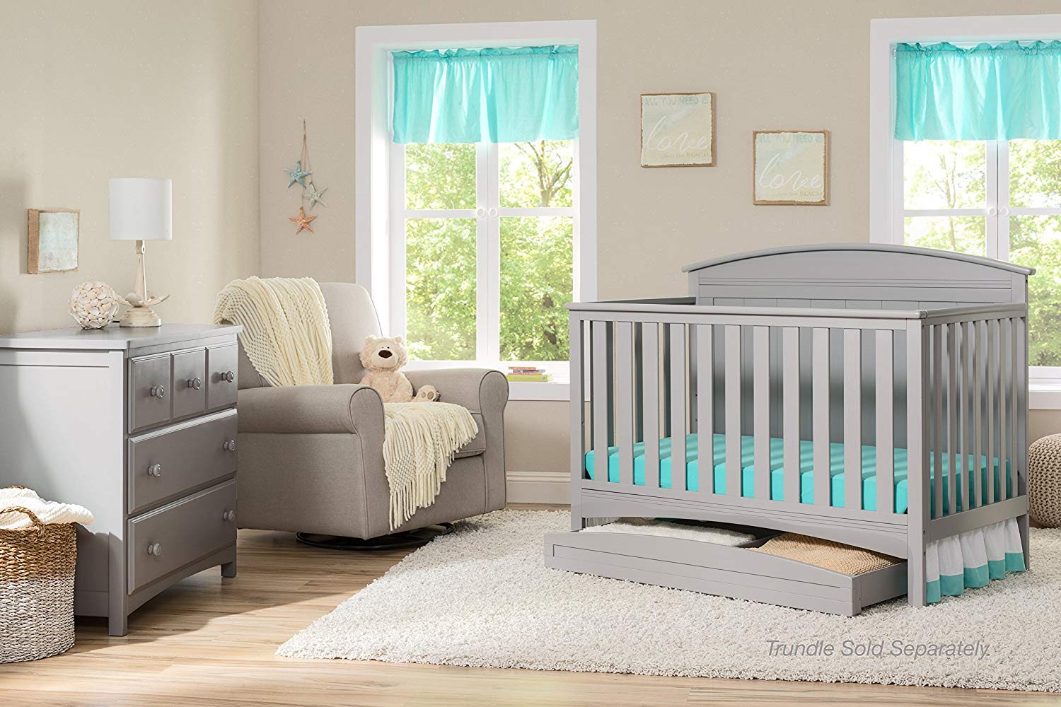 Delta Archer 4 in 1 Crib Gray
